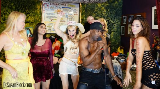 Ikkor takes the mic and the gals get up and dance. Photo: Capture It Photography