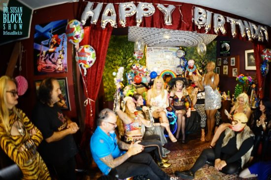 Birthday Showtime in the Womb Room Chapel of the Little Church of Bonoboville. Photo: Capture It