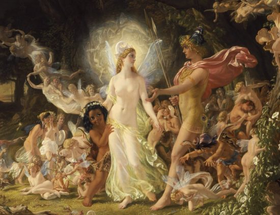 "Titania, Oberon and the Faeries in Shakespeare's Summer Solstice reverie, ""A Midsummer Night's Dream."" Painting: Joseph Noel Paton"
