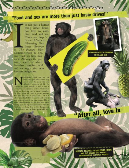 The Speakeasy Journal is dedicated to helping save the bonobos from extinction.