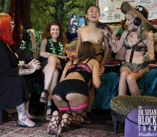 Elle makes a bubbly Altar Girl for Phoenix's Bonoboville Communion. Photo: Slick Rick