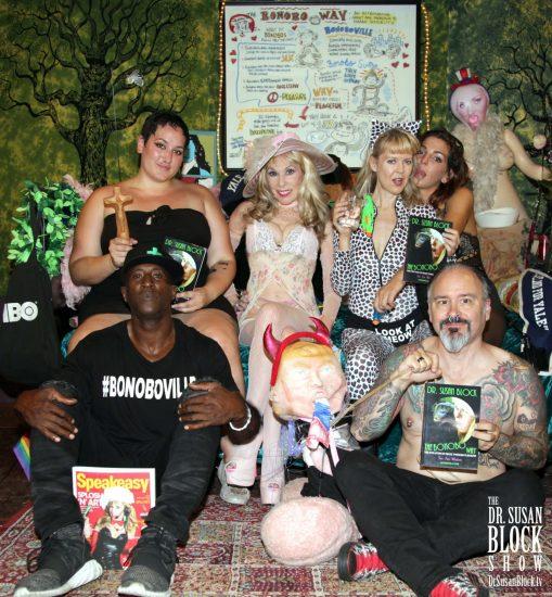 Ikkor the Wolf, Mimosa, Dr. Suzy, Sally Mullin, Phoenix Dawn, Professor Oni. Photo: Malik Daniels