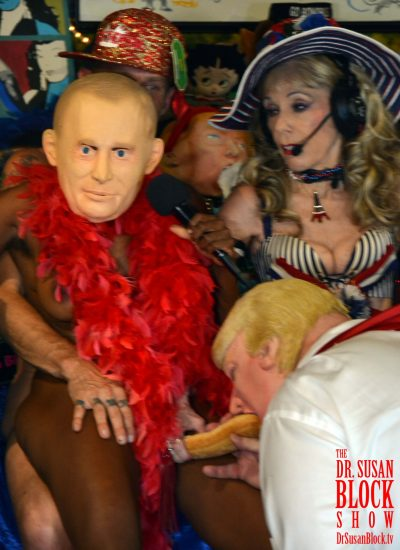 "Even Putin is shocked by the American ""Baby Jails"" on the Mexican border, but he says nothing about it as tRUMP sucks his baguette. Photo: Hugo Flores"