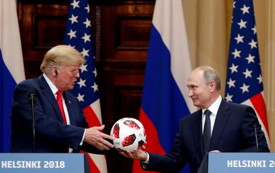 Putin gives tRUMP one of his balls.