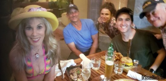With Greg, Kacy, Abe and Max at Tony's. Selfie