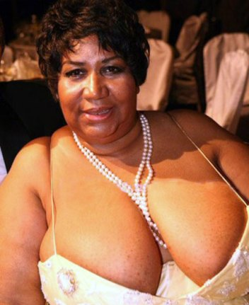 "Aretha"" FAITH in the power of spaghetti straps."