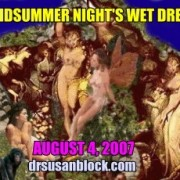 "Banner for A Midsummer Night's Wet Dream 2007 for August (when it's not really ""midsummer"")"