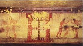 """Tomba della Fustigazione, or """"Tomb of Flogging."""""""