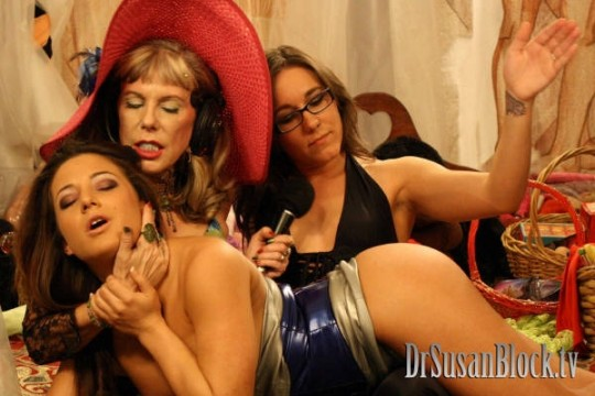 Spanking Charity with Sinn (there's a moral in that) Photo: Michael Vegas
