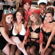 "With Misti Dawn, Deauxma, Delightful Debi, Afro Disiac and Veronica Avluv sitting on my Squirt-soaked bed in ""A Midsummer Night's Wet Dream 2011."""
