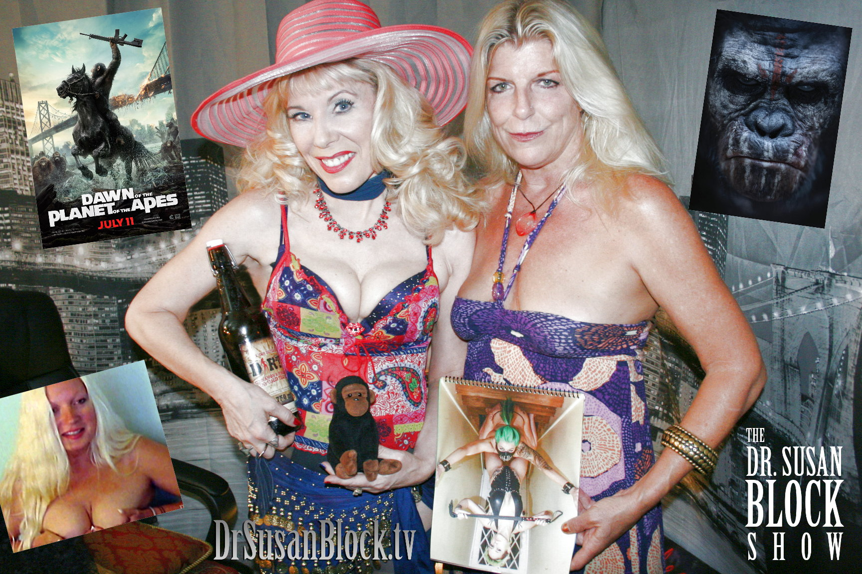 """""""Dawn of the Planet of the Apes"""" Defames Bonobos + More Fun with Cici and Layla on DrSuzy.Tv"""