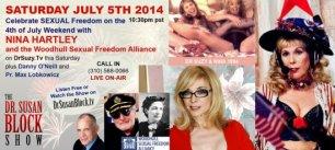 NINA HARTLEY & Woodhull Sexual Freedom Foundation on DrSuzy.Tv this Freedom Weekend!