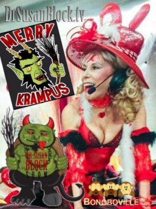 Kinky Krampus this Saturday, Krampus Coping Therapy 24/7 & Give the Bonobo Way for the Holydaze!
