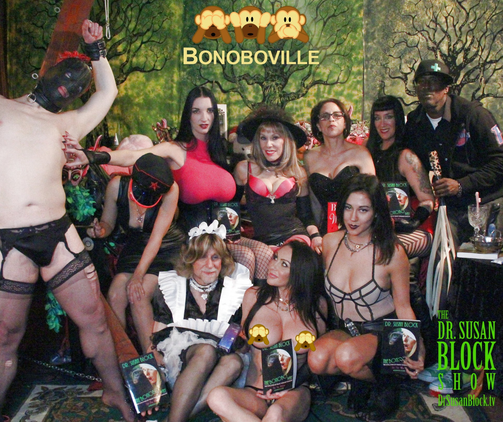Goddess Fae Black & the Bonoboësque FemDom 4 on DrSuzy.Tv!
