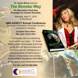 Dr. Susan Block to present the Bonobo Way at AASECT 2016