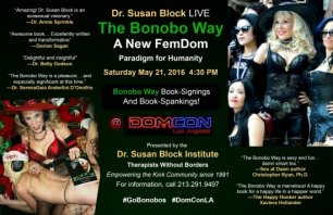 Dr. Susan Block's Bonobo Way bound for DOMCON LA 2016