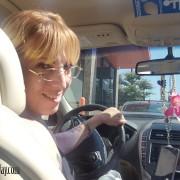 Sarah at the Wheel