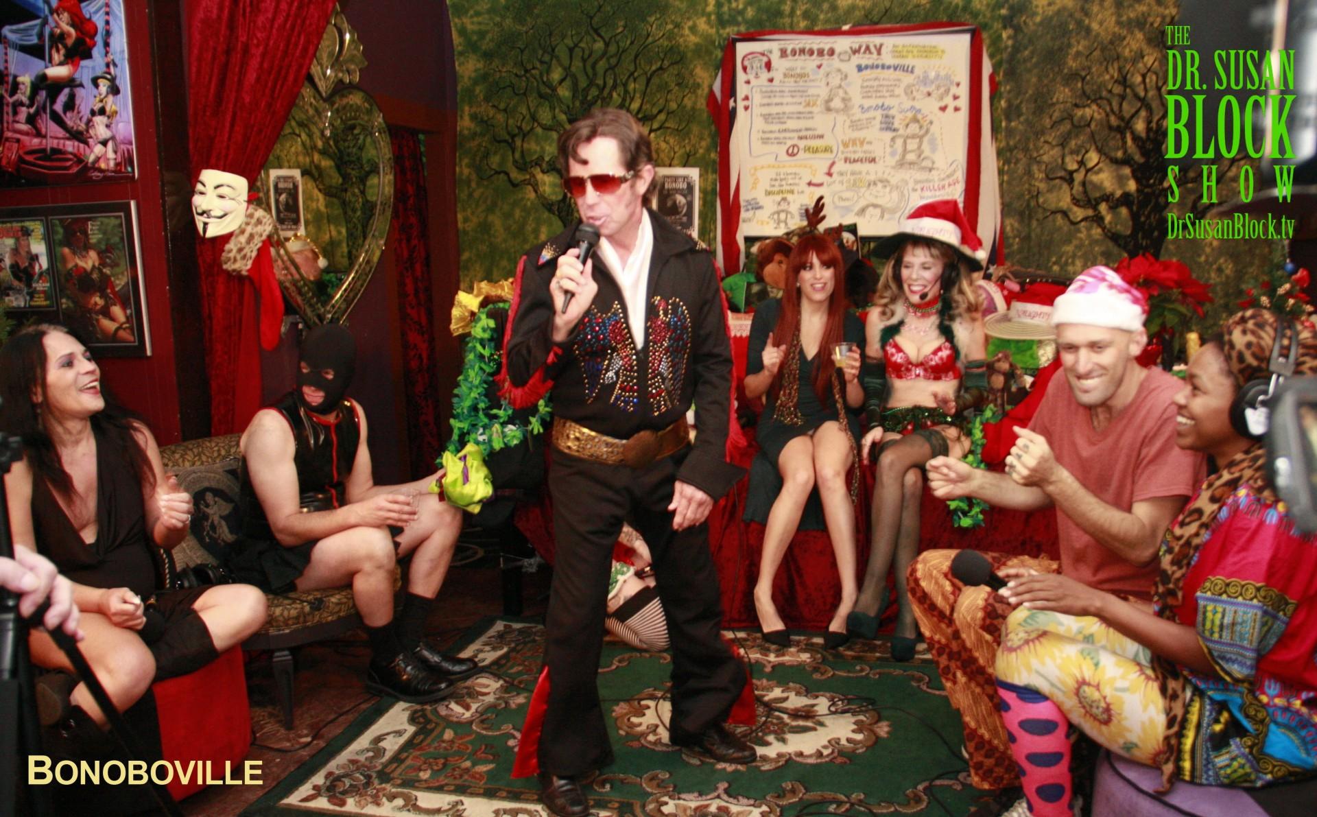 Naughty Footsie Solstice with Elvis + Birthday Madam RavenRae, the Bonobo Way!