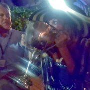 Class Secretary J. Trevor Vietor keeps singing & I keep drinking.  Photo: Max
