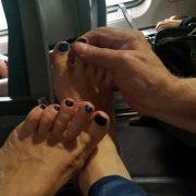 Max's Amtrak Tantric Foot Massage.