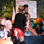 Mistress Liz adjusts before Mpenzi rides the Motorbunny into four magical orgasms.  Photo: DragonBlade Design