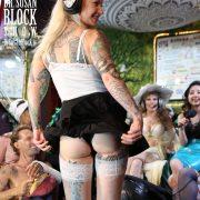 ...Pulls up Gypsy's skirt...