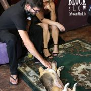 Betsey gets a rub-down