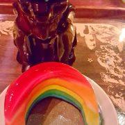 My Valentine Rainbow Jello and Clifton's Bear Mug