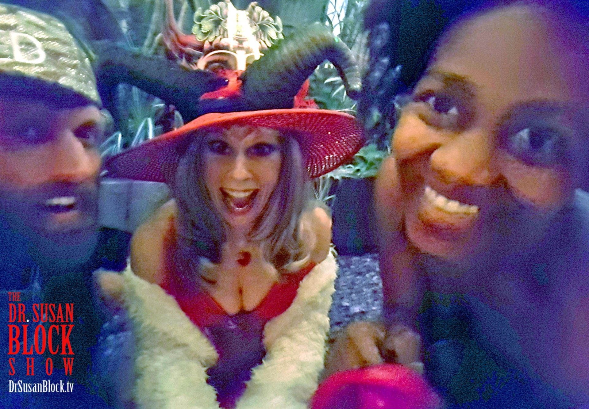In the Bonoboville Forest with Chef Be*Live & Daniele Watts. Photo: Selfie