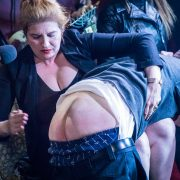 Ms. Tara OTK spanks tRUMP's rump
