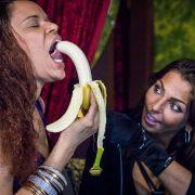 Diamond teases her banana