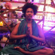 Daniele levitates as she meditates