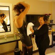 Ana lubes up Phoenix...