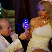 Sub John serves the Goddess her drink