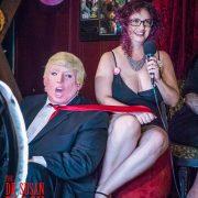 Rhiannon has Grotesque tRUMP by the tie