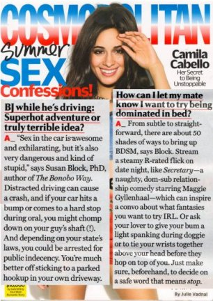 July 2018 Cosmo Q & A's with Dr. Suzy