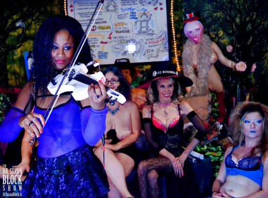 Wicked plays wondrously on her electric violin. Photo: Tacra