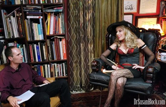 Robert Stark interviews me about the Incel Phenomenon for The Stark Truth. Photo: Mars FX