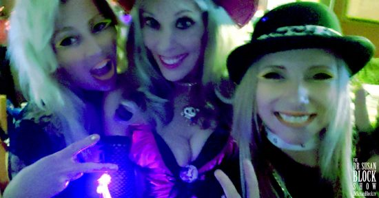 With Jenni and Blossom at the Speakeasy Bar. Photo: Selfie