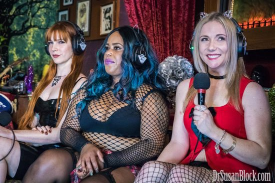 Starting Line-Up: Mistress Lila Sage, Krystal Mac, Blossom Green. Photo: Jux Lii