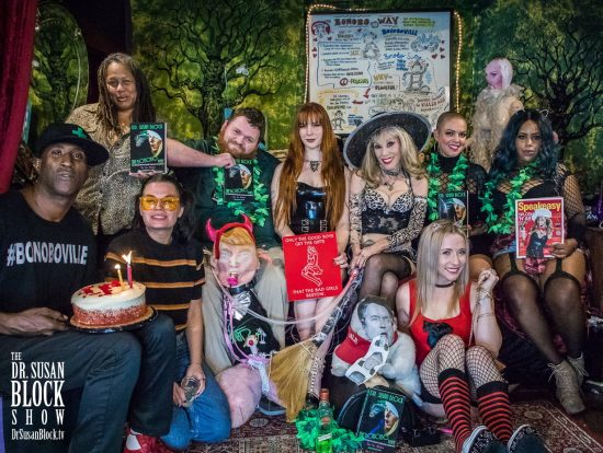 Ikkor the Wolf, Tuesday Conner, Onyx DeValle, Anthony Davis with tRUMP, Mistress Lila Sage, Dr. Suzy, Kavanaughty, Blossom Green, Cecily Simcoxxx, Krystal Mac. Photo: Jux Lii