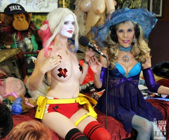Harley Quinn & Arlecchino in BOOnoBOOville. Photo: Georges