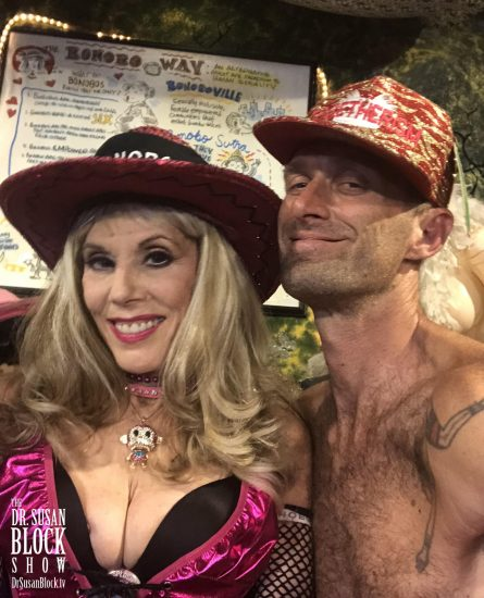 Me and Be in Bonoboville. Selfie: Be*Live