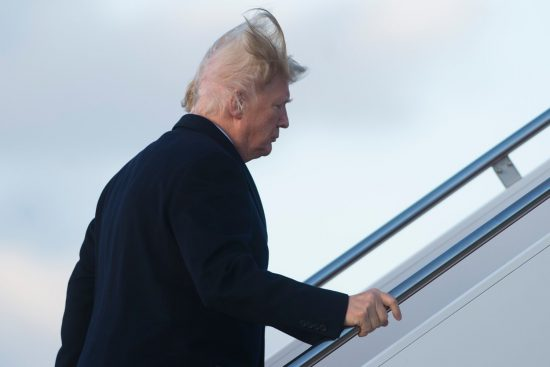 Voodoo works! Or maybe just another bad hair day on Airforce One.