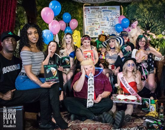 Scorpio Passions: Ikkor the Wolf, Sizi Sev, Sunshine McWans, Fizzgig the Party Pup, Mother Tink, She-God Claire, Drumpf, Dr. Suzy, Capt'n Max, Blossom Green, Rhiannon Aarons. Photo: Jux Lii