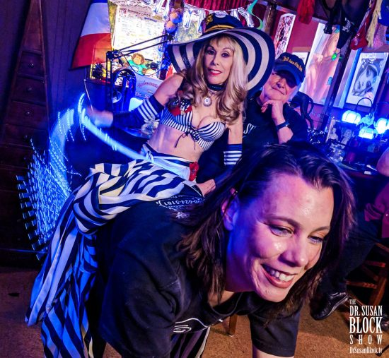 Sunshine gets spanked where the sun don't shine at the Speakeasy Bar. Photo: Jux Lii