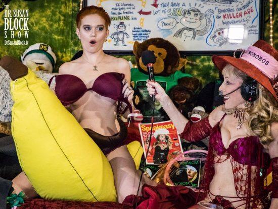 Sister Peg mounts Mr. Banana for Spanksgiving Communion. Photo: Jux Lii