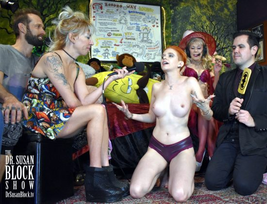 Sister Peg testifies before the Womb Room on Spanksgiving. Photo: Frank T