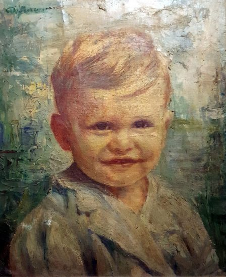 Pr. Max (Massimo) at 2, painted by a nun.