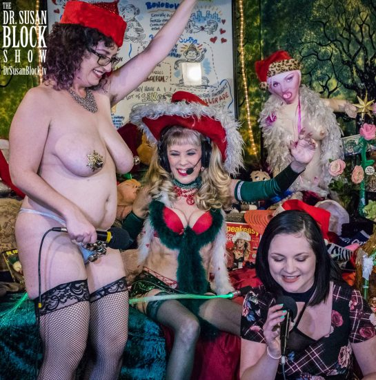 "Rhiannon ""Jingle Bells"" Aarons is the epitome of XXXmas Fun. Photo: Jux Lii"